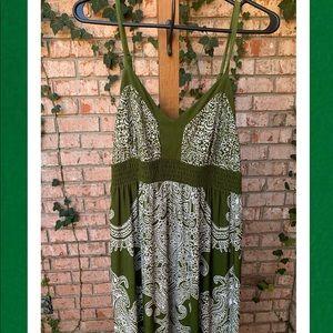 Apt. 9 Dresses - Apt 9 Strappy Green & White Boho Maxi Dress